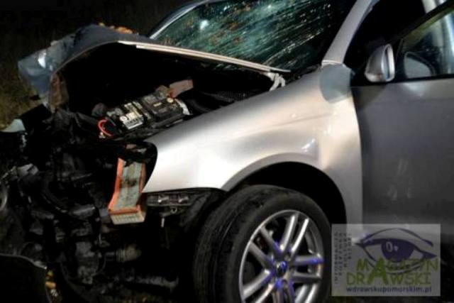 [DW-148] Kolejny wypadek pod Zajezierzem. Dwie osoby ciężko ranne.