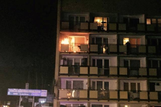 Pożar  mieszkanka w Koszalinie