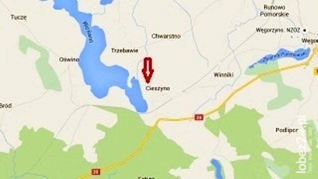 Tragiczny finał poszukiwań mężczyzny nad jeziorem Woświn w Cieszynie Łobeskim (gm. Węgorzyno)