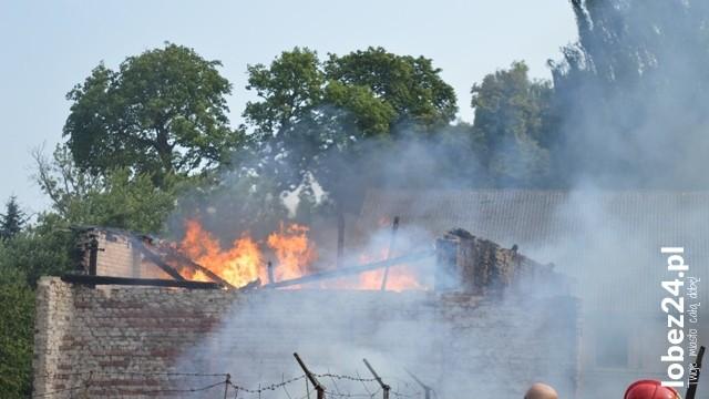 Pożar w Dobieszewie koło Łobza