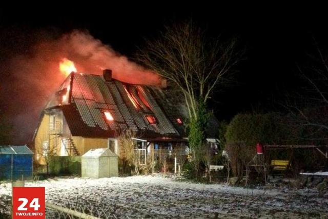 Spłonął budynek mieszkalny pod Sianowem!