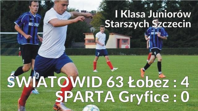 I Klasa Juniorów Starszych Szczecin ŚWIATOWID 63 Łobez : 4 SPARTA Gryfice : 0