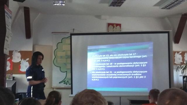 O cyberprzemocy i odpowiedzialności prawnej nieletnich z uczniami szkół w Resku