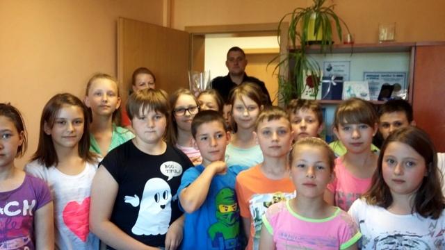 Dzieci z wizyta na komisariacie w Resku