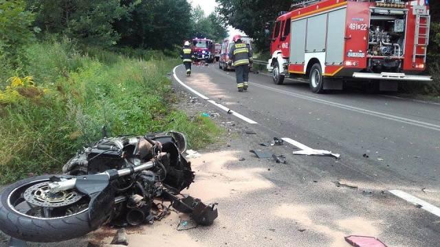 Śmiertelny wypadek motocyklisty pod Węgorzynem