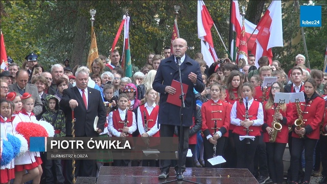 Wizyta Prezydenta RP Andrzeja Dudy w Łobzie - Przemówienie burmistrza Łobza Piotra Ćwikły