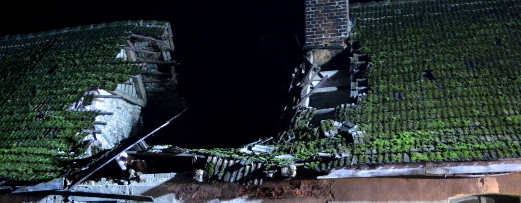 Zawaliła się część dachu budynku mieszkalnego w Kraśniku.