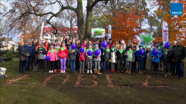 4 tysiące krokusów posadzili w środę w Parku Miejskim uczniowie, przedszkolaki i mieszkańcy Łobza.