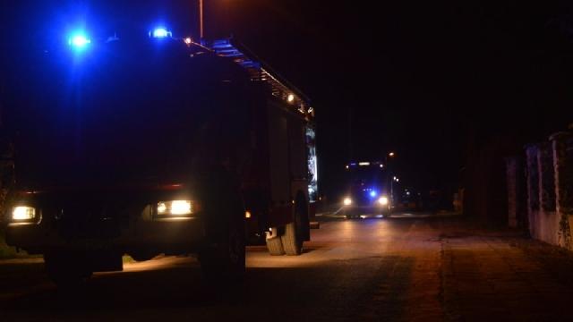 Nocny pożar w Przemysławiu.