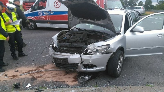 Wypadek na obwodnicy Karlina.