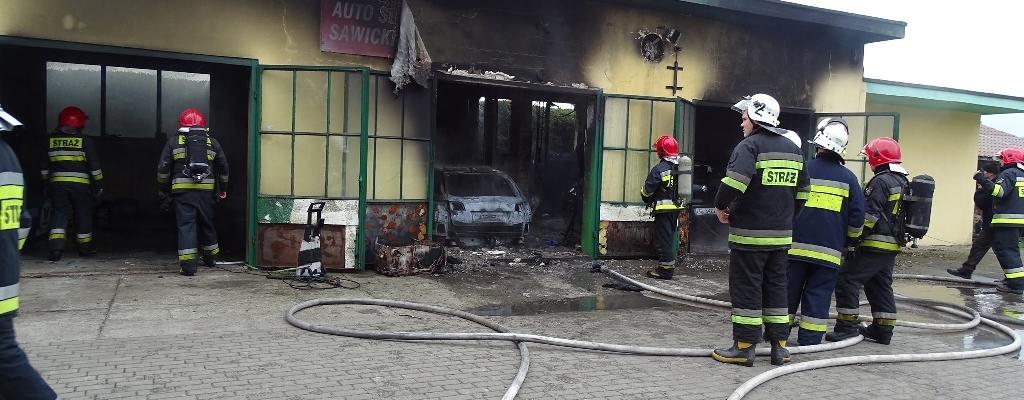 Pożar warsztatu pod Nowogardem.