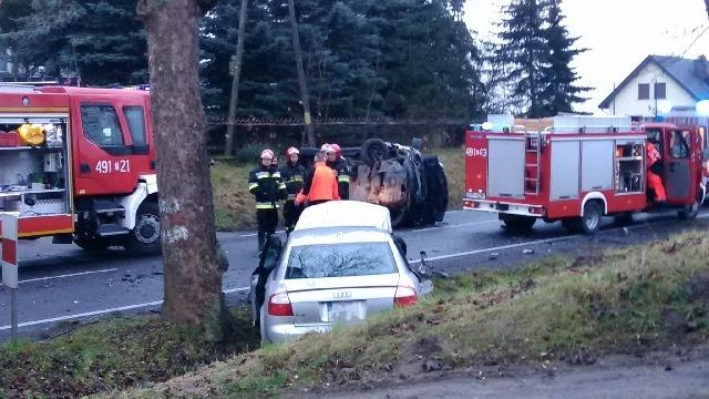 DK23: Poważny wypadek pod Myśliborzem. Dziewięć osób poszkodowanych.