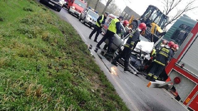 Płoty: Wypadek na krajowej szóstce