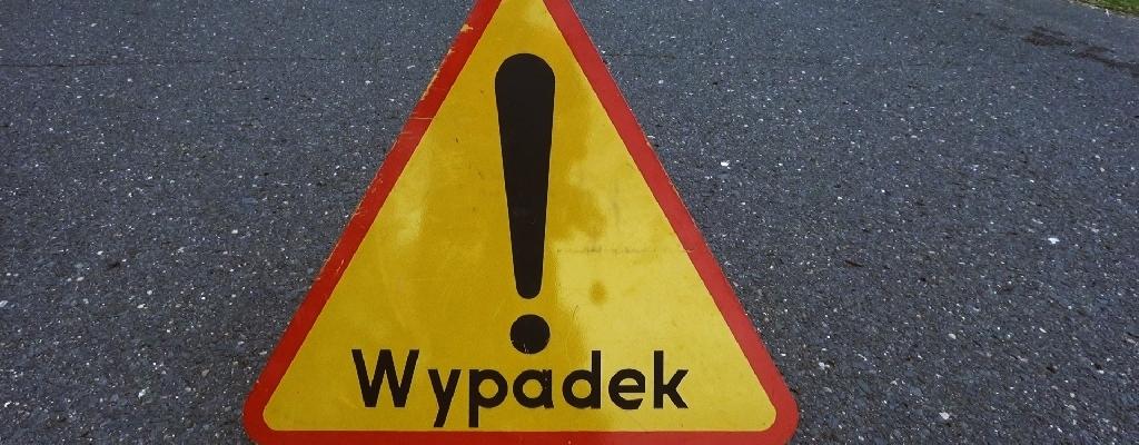 Dachowanie na drodze między Łobzem, a Węgorzynem.
