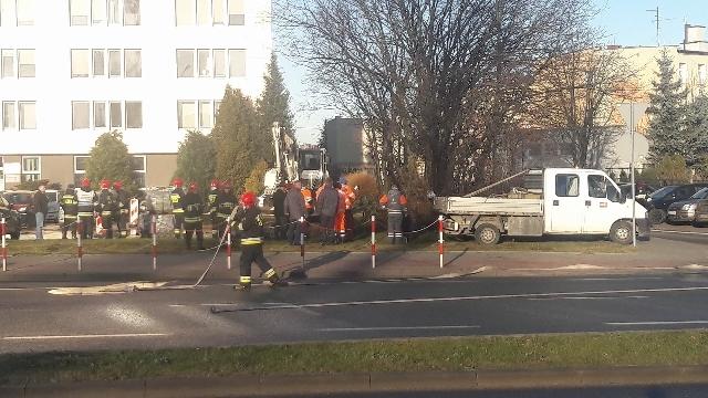 Koparka uszkodziła gazociąg w Koszalinie.