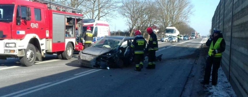 Wypadek na obwodnicy Nowogardu.