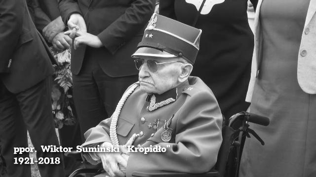 Zmarł ppor. Wiktor Sumiński ps. Kropidło. Był jednym z najstarszych żyjących Żołnierzy Wyklętych.