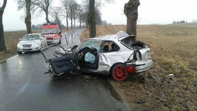 Poważny wypadek na drodze Czaplinek - Czarne Małe.