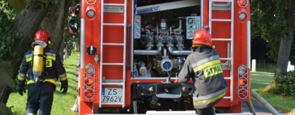 Tucze: Pożar budynku gospodarczego
