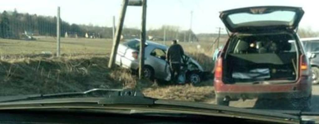 Wypadek na dw-163 Czaplinek-Kluczewo.