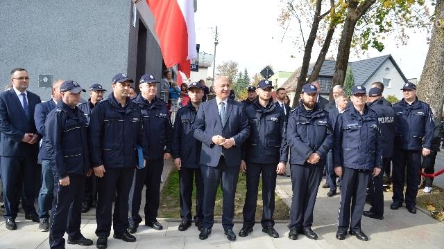 Uroczysta reaktywacja posterunku policji w Dobrej.