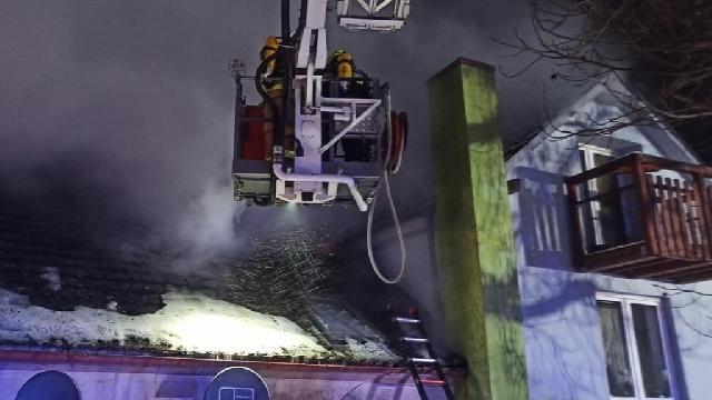 Pożar domu w Wilczkowie pod Świdwinem