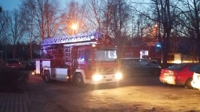Na osiedlu Łoźnicka interweniowali strażacy