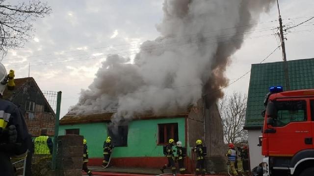 Węgorzyno. Pożar budynku