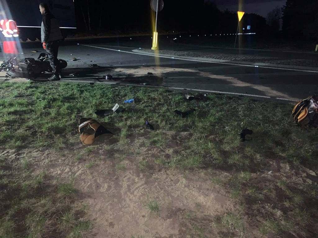 Tragedia na drodze wojewódzkiej nr 142. Motocyklista zginął po zderzeniu z ciężarówką