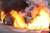 Spłonęło Audi.