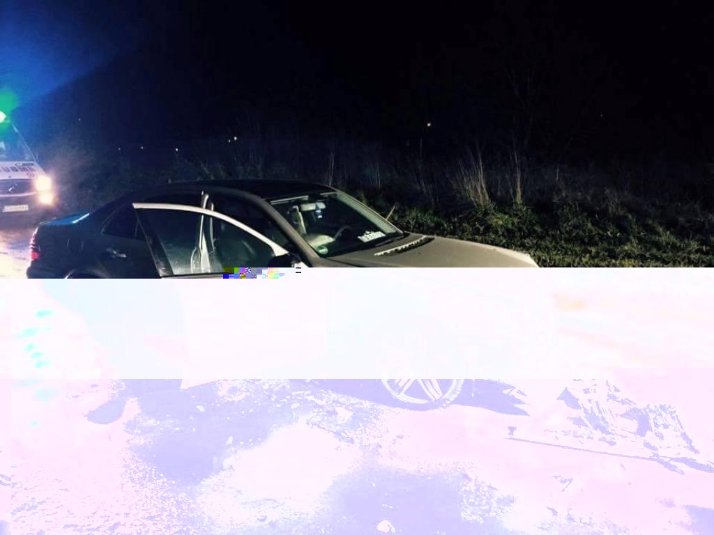 Czołówka Citroena z Mercedesem  w Sarbinowie