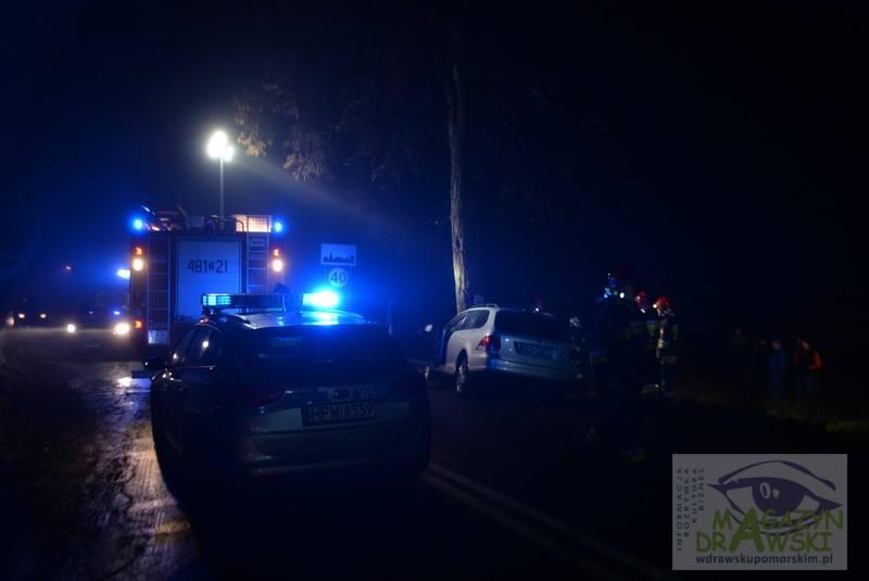 Kolejny wypadek pod Zajezierzem. Dwie osoby ciężko ranne.